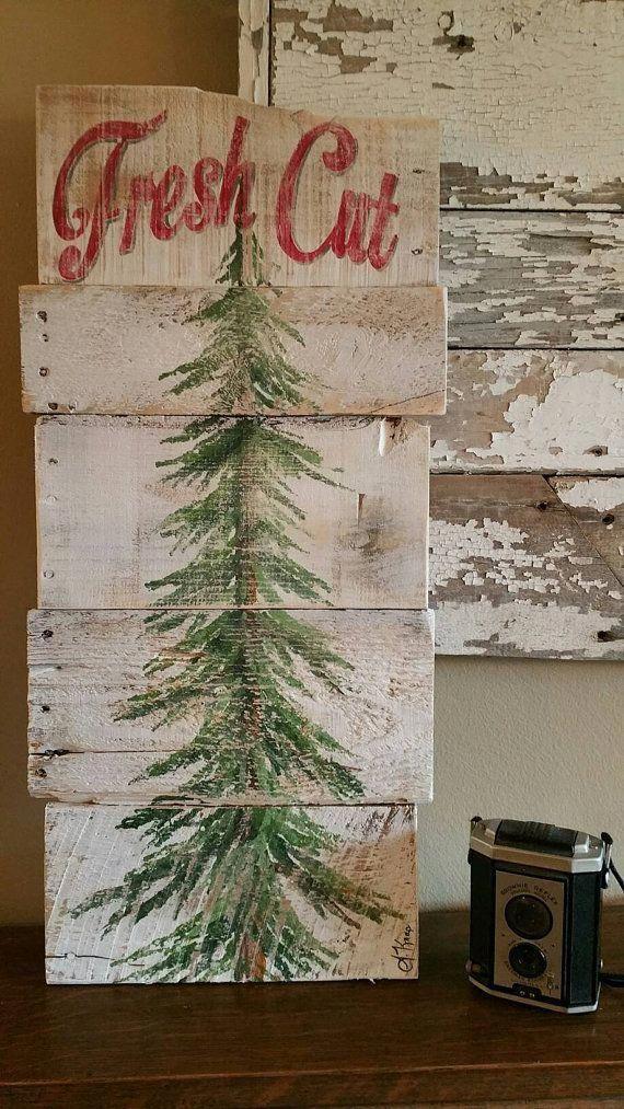Christmas tree fresh cut, Christmas sign, Fresh Cut, Pine tree