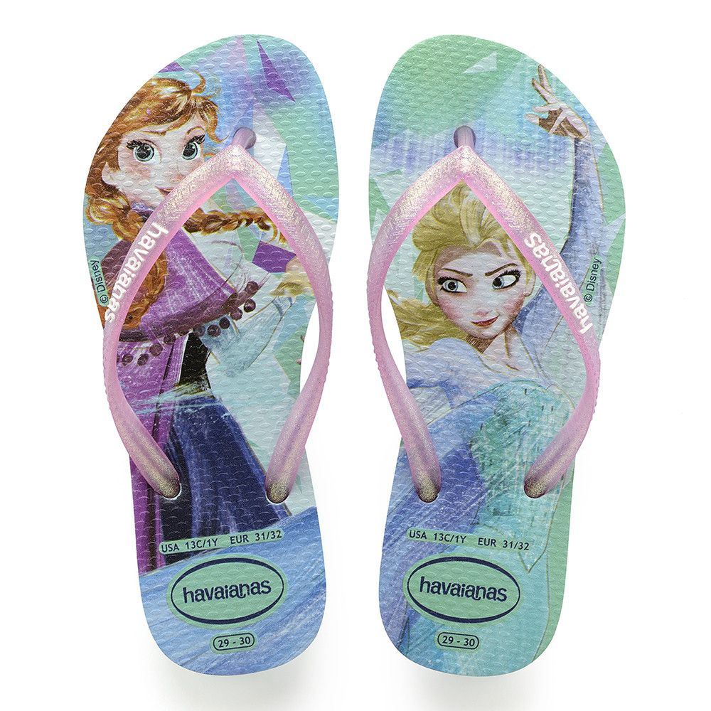 cafdbefafcb0 Havaianas Kids Slim Frozen Sandal Green Pink Price From  16