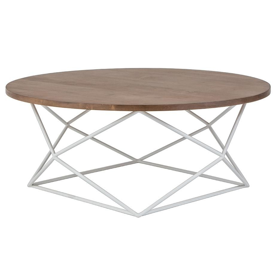Myles 36 Round Coffee Table Almond 23 Finish 4 Metal Options Round Coffee Table Table Metal