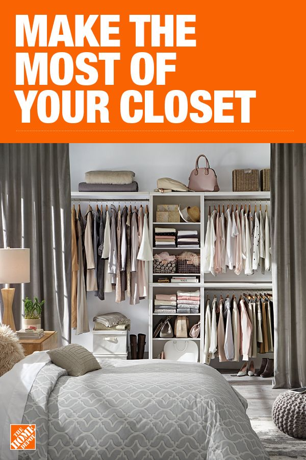 The Home Depot Has Everything You Need For Your Home Improvement Projects Click Through To Learn Mor Bedroom Organization Closet Closet Remodel Closet Designs