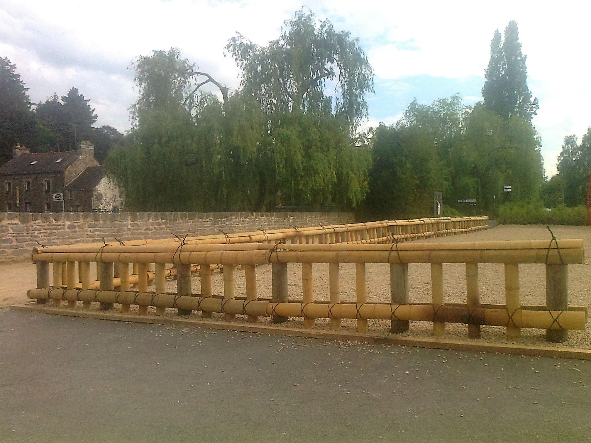 Brise Vue Jardin Japonais barrières, clôtures traditionnelles en bambou kinkakuji gaki