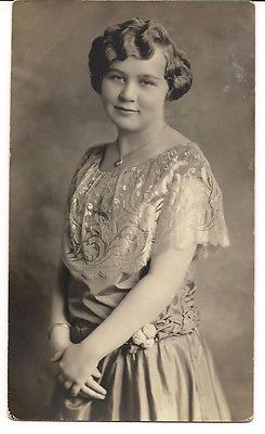 Pretty Young Woman from Finland in Beautiful Dress 1910 1920s ...