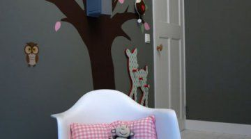 Kinderkamer Behang Vogelhuisjes : Een boom met vogelhuisje in de kinderkamer net echt our new