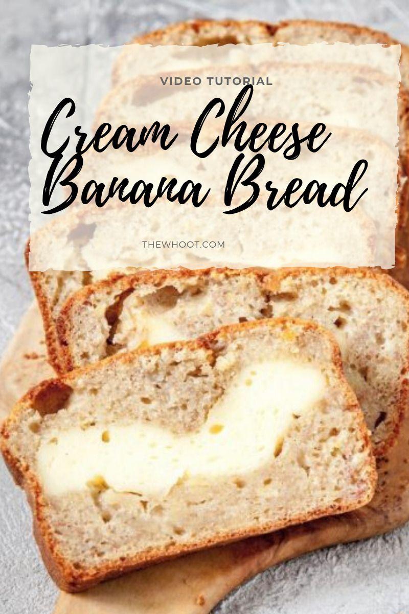 Cream Cheese Banana Bread Recipe The Whoot In 2020 Sour Cream Recipes Banana Bread Cream Cheese Banana Bread Recipes