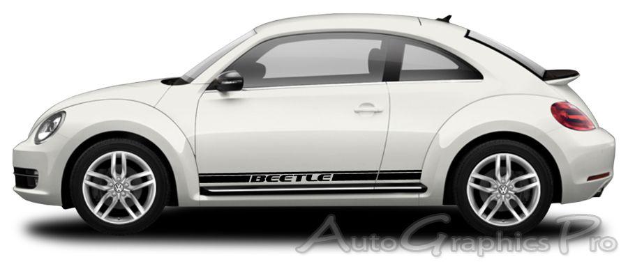 1998-2019 Volkswagen Beetle Turbo Rocker Panel Vinyl Graphic Decals Stripes 3M