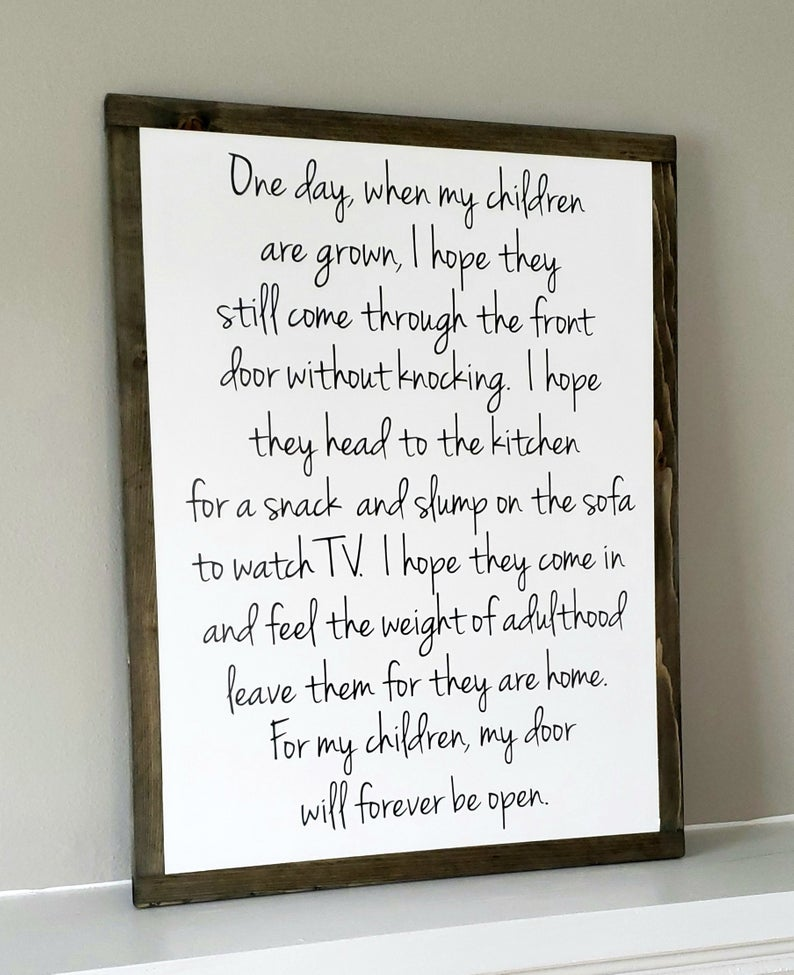 One Day When My Children Are Grown Framed Sign Gift for