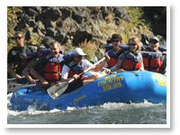 Hayden Homes Whitewater Rafting Team Building on the Beautiful Deschutes River in Bend, Oregon.