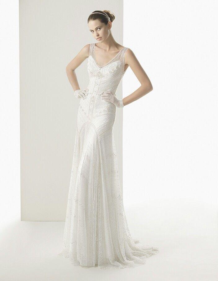 Art deco wedding dress | Wedding dress ideas | Pinterest | Art deco ...