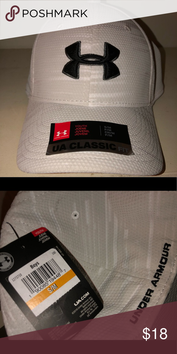 09d4ff4740b Boys Under Armour Hat Off white and grey little boys hat. Never worn brand  new! Under Armour Accessories Hats