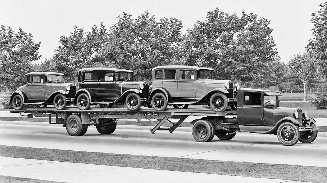 "Three Model ""A"" Fords To Go Taylor TruckaWay Co"