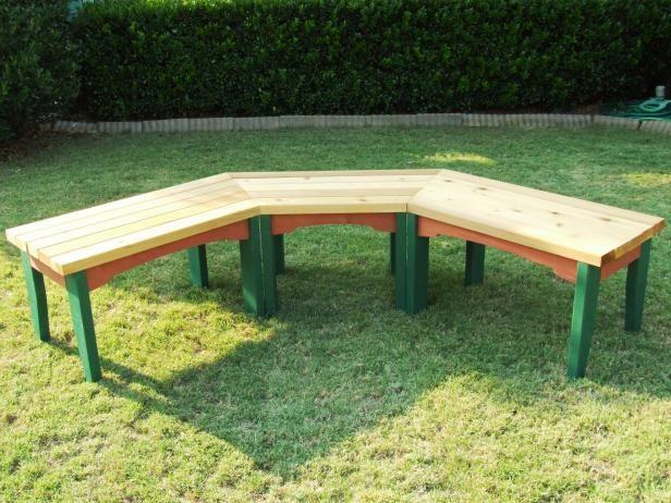 How To Build A Semi Circular Wooden Bench Diy Bench Outdoor Garden Bench Diy Outdoor Bench Seating