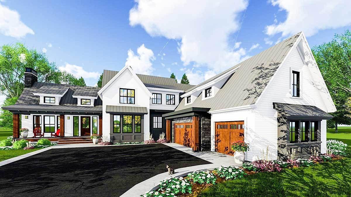 Plan 14659rk Exciting Farmhouse House Plan Farmhouse Style House Modern Farmhouse Plans House Plans Farmhouse