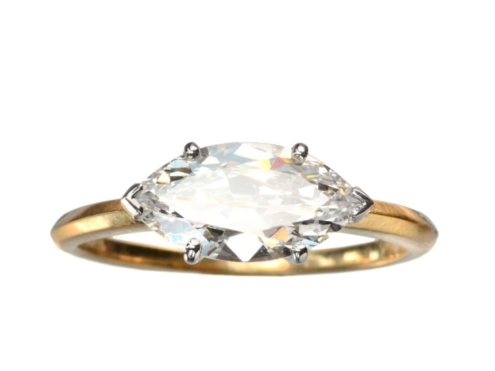 Marquise diamond setting ideas - East West Marquise Diamond Ring Setting