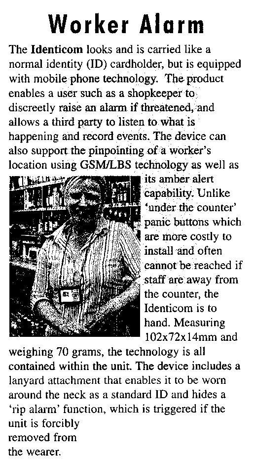 Worker Alarm
