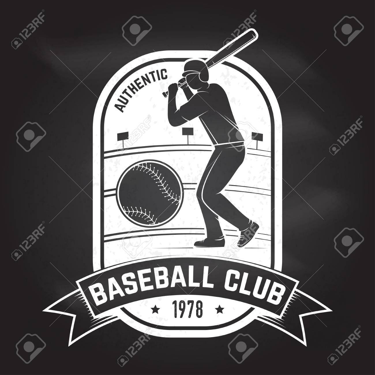 Baseball Or Softball Club Badge Vector Illustration Concept For Shirt Design Print Stamp Or Tee Illustra Club Badge Motion Graphics Animation Illustration