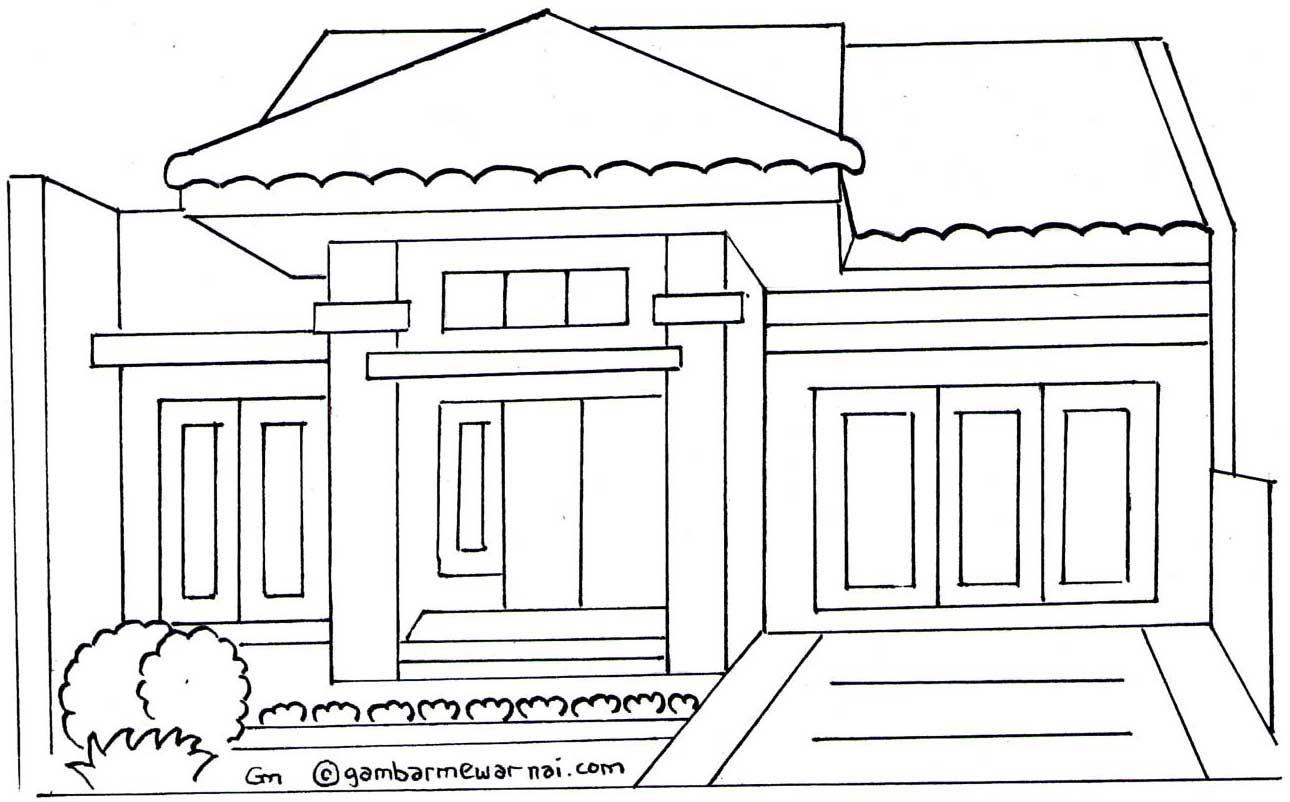Gambar Rumah Minimalis Untuk Mewarnai Rumah Minimalis Pinterest