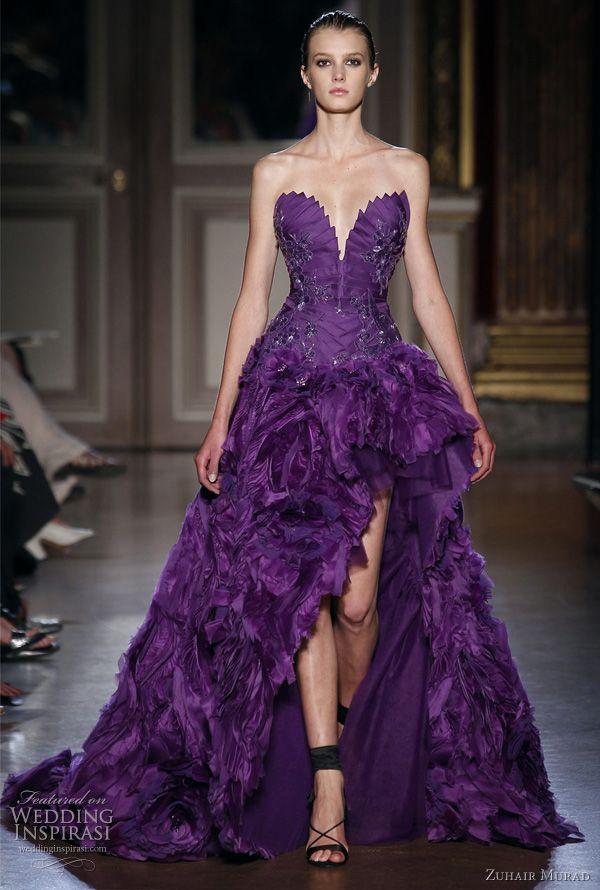 Zuhair Murad Fall 2011 deep purple gown #GG #PurpleGown