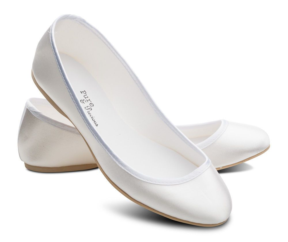 Flat Wedding Shoes In White