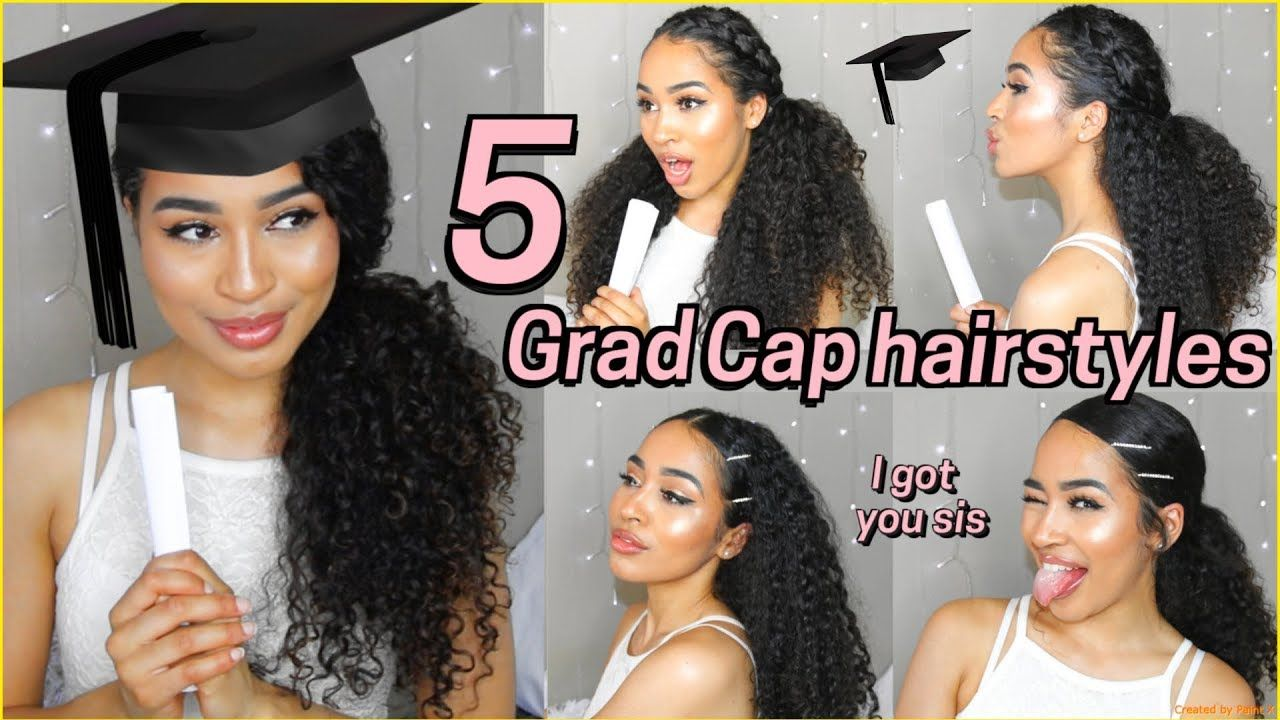 5 Best Graduation Hairstyles For Curly Hair Lana Summer Youtube Graduation Hairstyles With Cap Graduation Hairstyles Curly Hair Styles