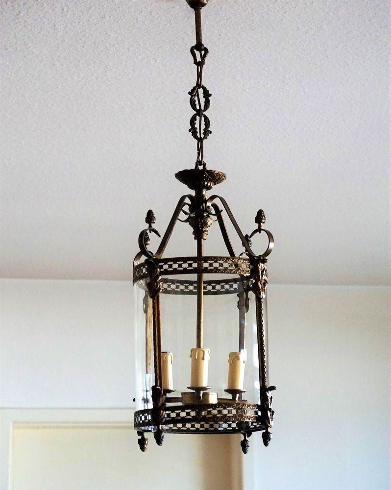 Jugendstil Laterne Alte Deckenlampe um 10 Hängelampe Art Nouveau