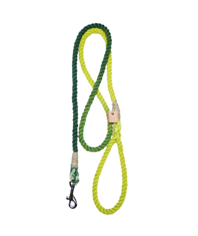 Green gradient rope dog leash $38.00, via Etsy.