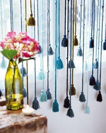 Ideas de cortinas con lana que podr s hacer tu misma ideas pinterest cortinas borlas y lana - Cortinas originales para dormitorio ...