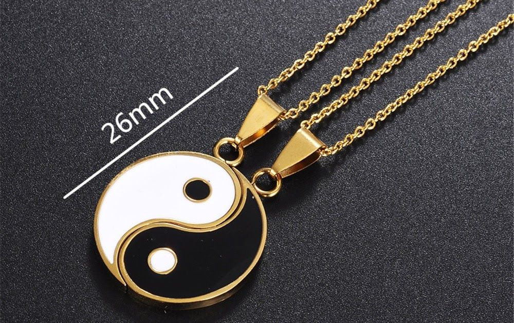Buy Online Matching 2 Pieces Stainless Steel Yin Yang ...
