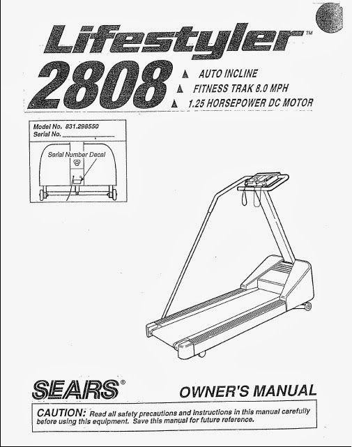 lifestyler 2808 treadmill manual lifestyle treadmill hottest on rh pinterest com Lifestyler Incline Treadmills Sears Lifestyler Expanse 800 Treadmill
