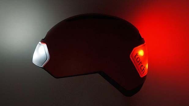 The Torch T1 helmet uses 10 integrated LED lights to make sure cyclists stay safe and are seen.