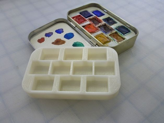 3d Print A Mint Tin Into A Functional Watercolor Palette