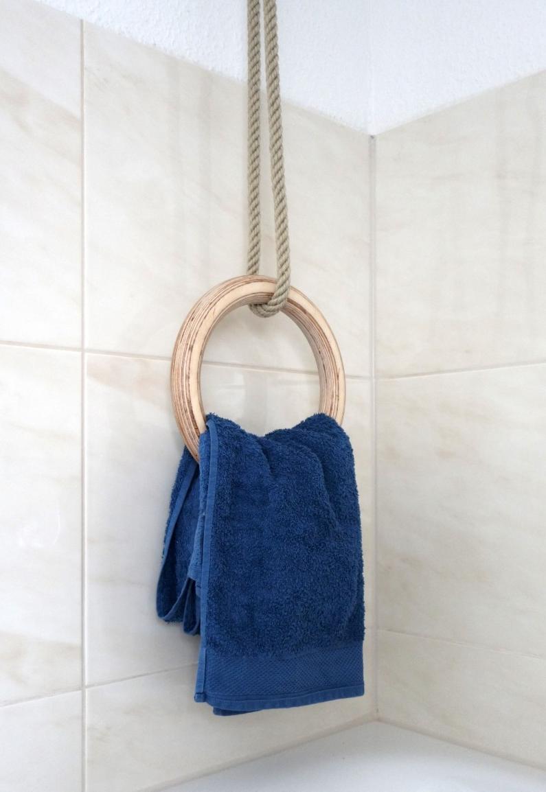 Handtuchhalter aus Turnring selber machen