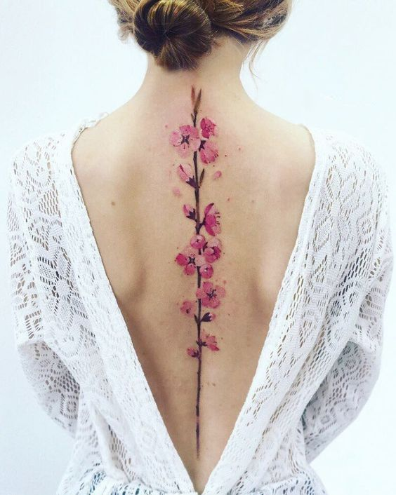60 stunning watercolor tattoo ideas for women – page 26 of 60 – SeShell blog – small watercolor tattoos; Floral tattoos; Sleeve tattoos; Shoulder…