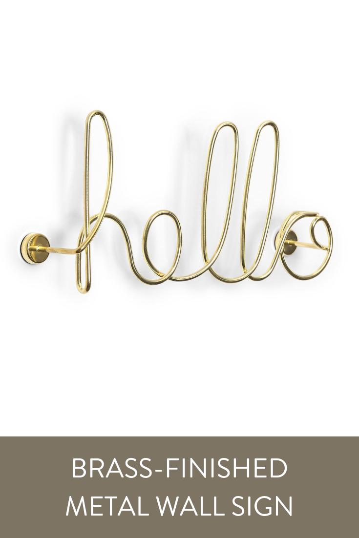 Metal Hello Sign Wall Art Hello Sign Decorate Your Living Space With The Word Art Style Of The Umbra Wired Hello Th Metal Wall Sign Wall Signs Neon Signs