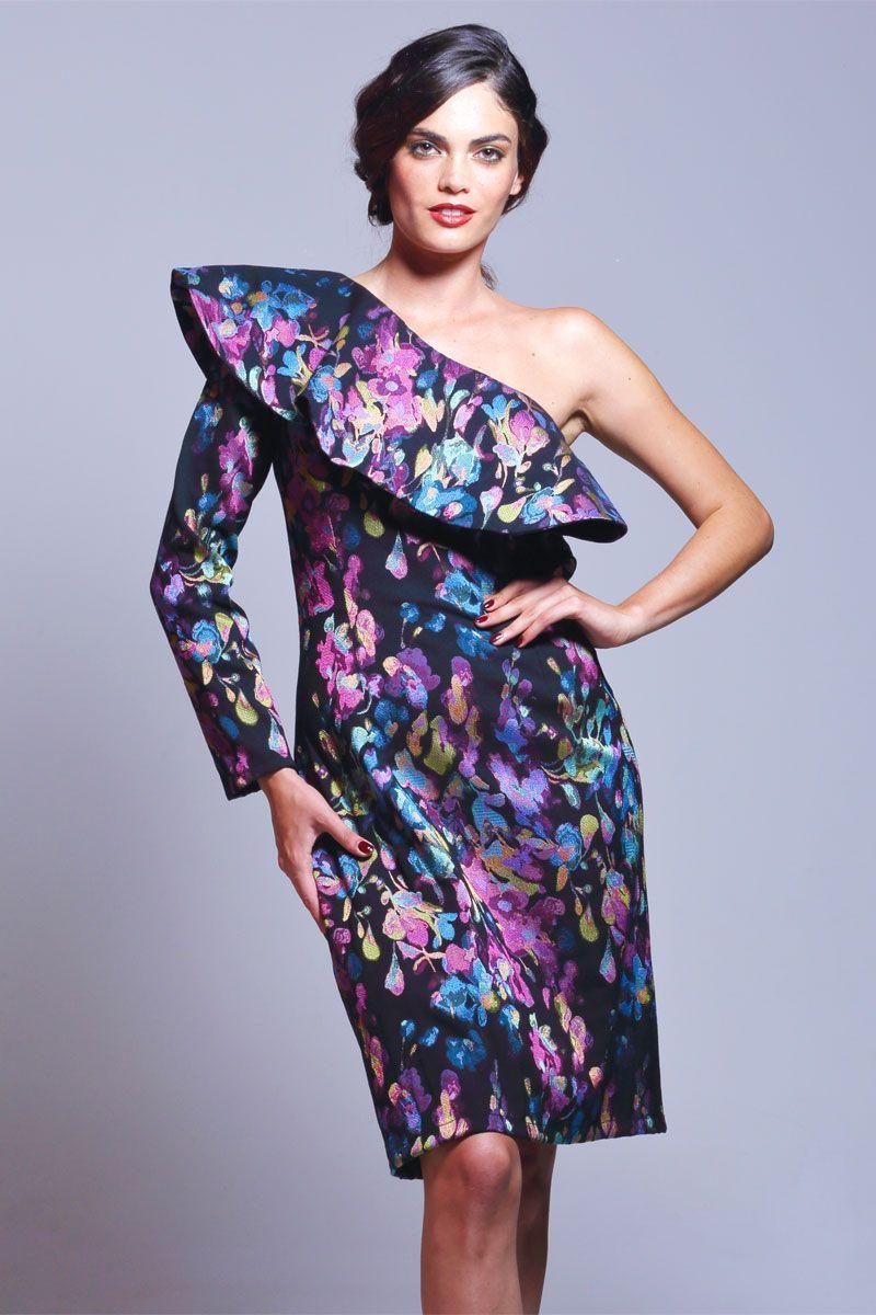 Vestido Asimétrico Jacquard Brocado Callia | Pinterest | Vestidos de ...