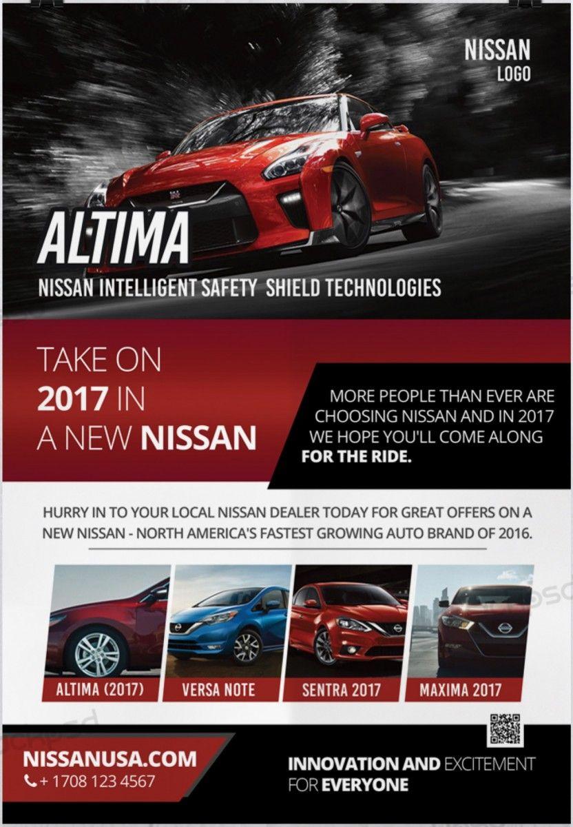 Nissan GTR Car – Free PSD Flyer Template   Free Flyer Template ...