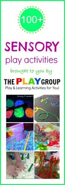 Over 100 FUN sensory play ideas