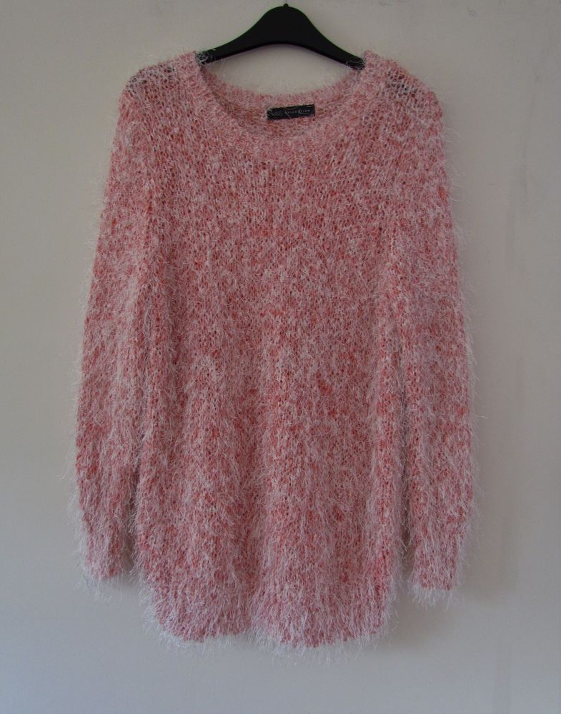 NEW WOMAN/'S MARK/'S /& SPENCER/'S PINK RIB-KNIT JUMPER NEW SIZES S-XL
