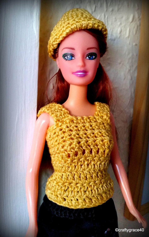 Come Abbinare Il Senape completo bambola barbie gonna nera velluto con perline e