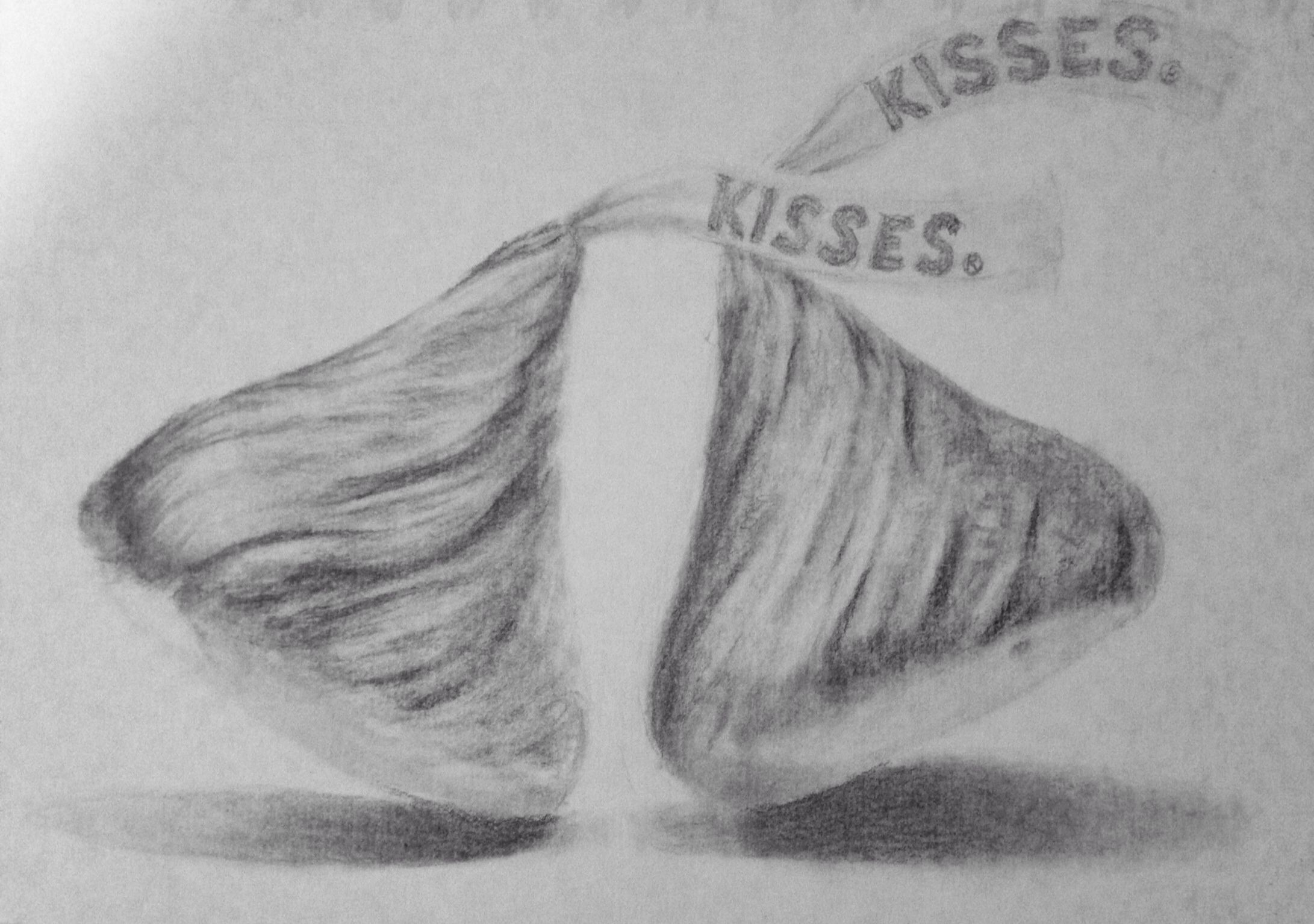 This is an image of Geeky Hershey Kiss Drawing