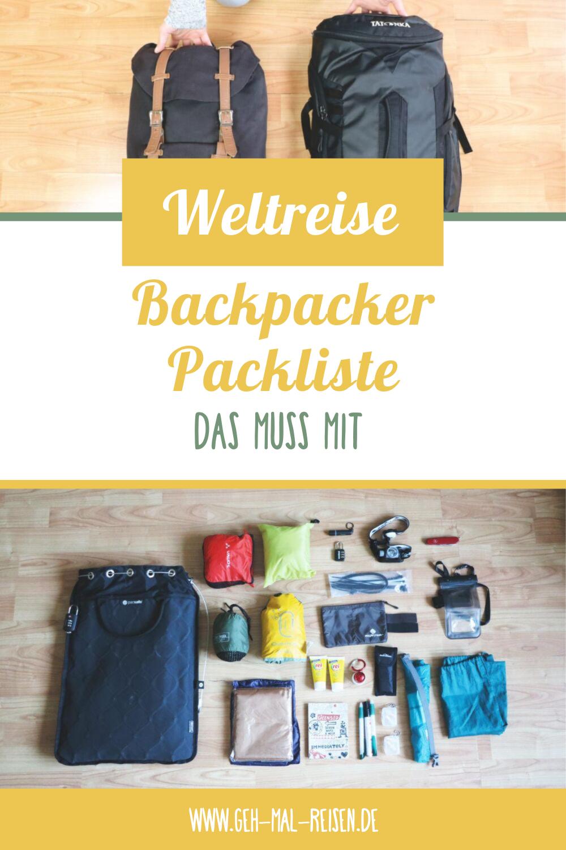 Unsere Weltreise Packliste • Das brauchten wir wirklich auf