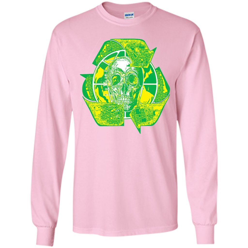 Earth Day Recycle Skull Symbol T Shirt Symbols Earth And Products