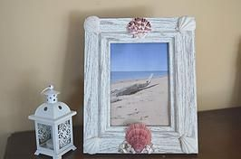 Beach Cottage Chic picture frame.