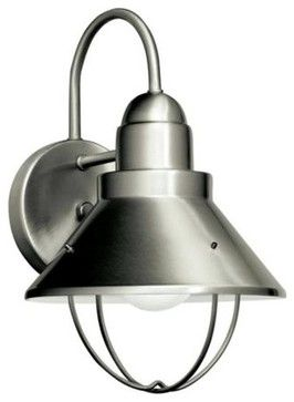 kichler nickel energy star outdoor wall sconce contemporary out