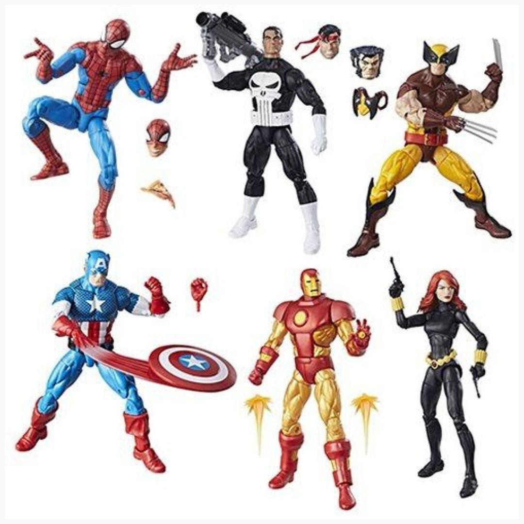 Marvel Legends Super Heroes Vintage 6-Inch Figures Wave 1 Set Hasbro Toys