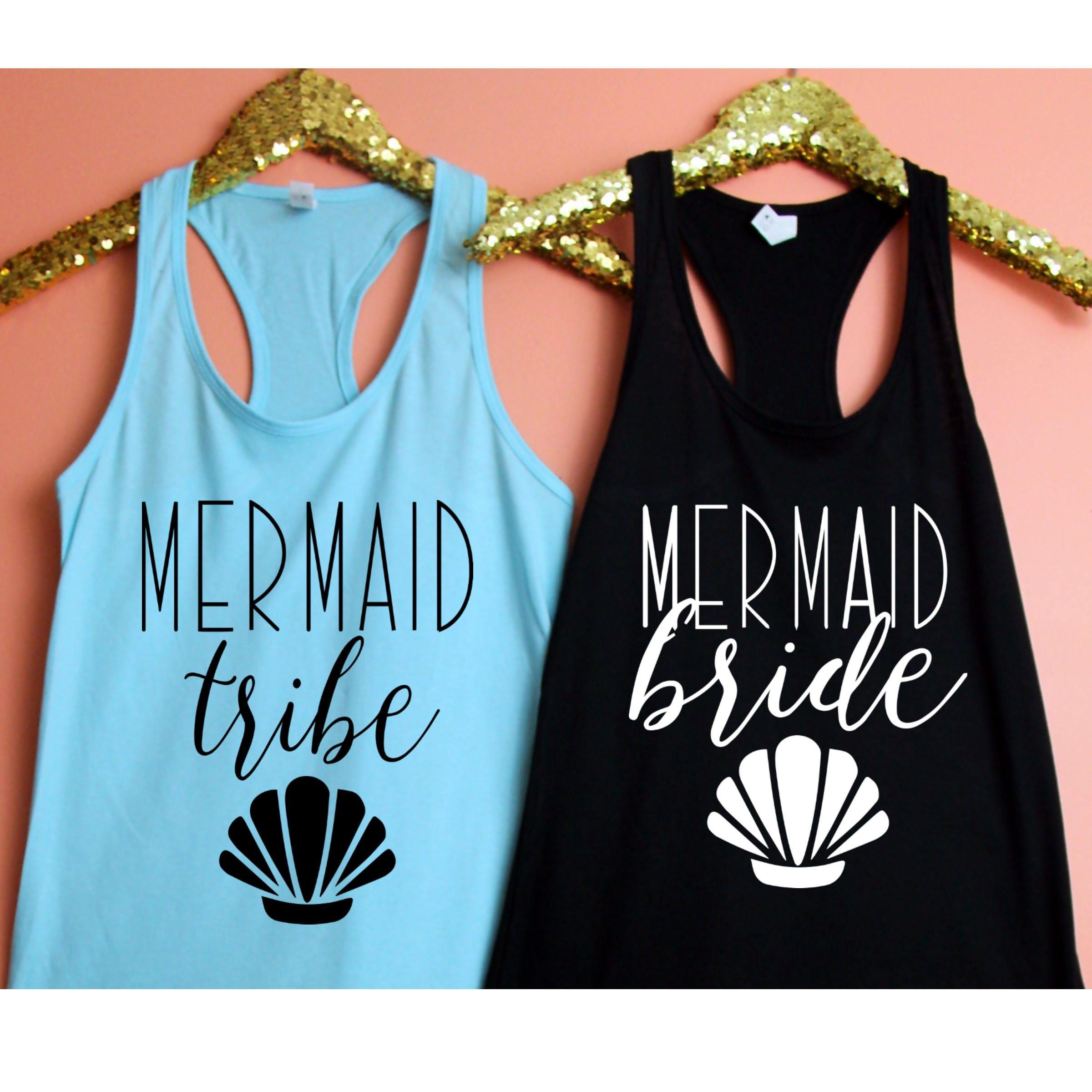 Mermaid Bride, Mermaid Tribe Fitted Racerback Tank Top, XS