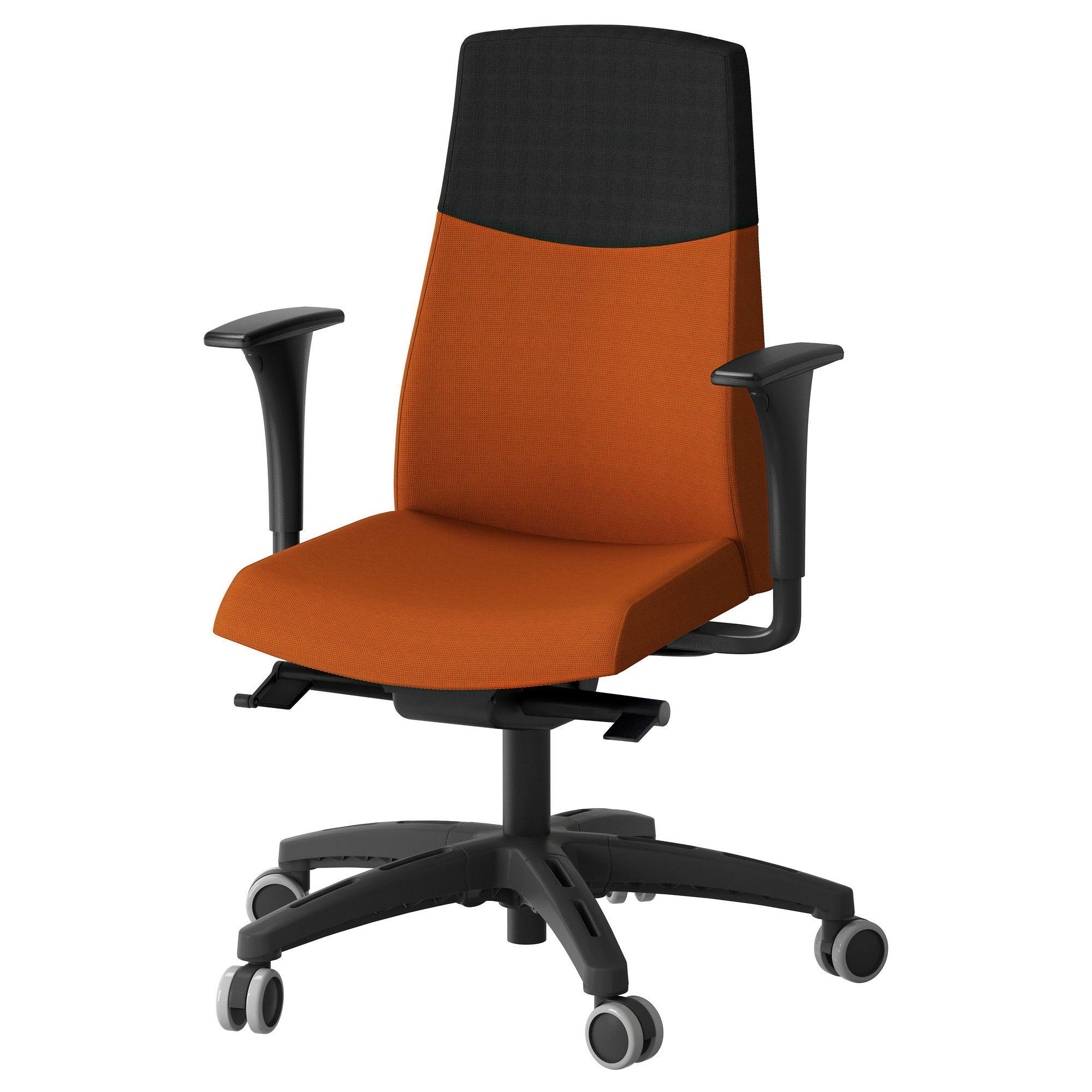 Volmar Swivel Chair With Armrests Orange Ikea Studio