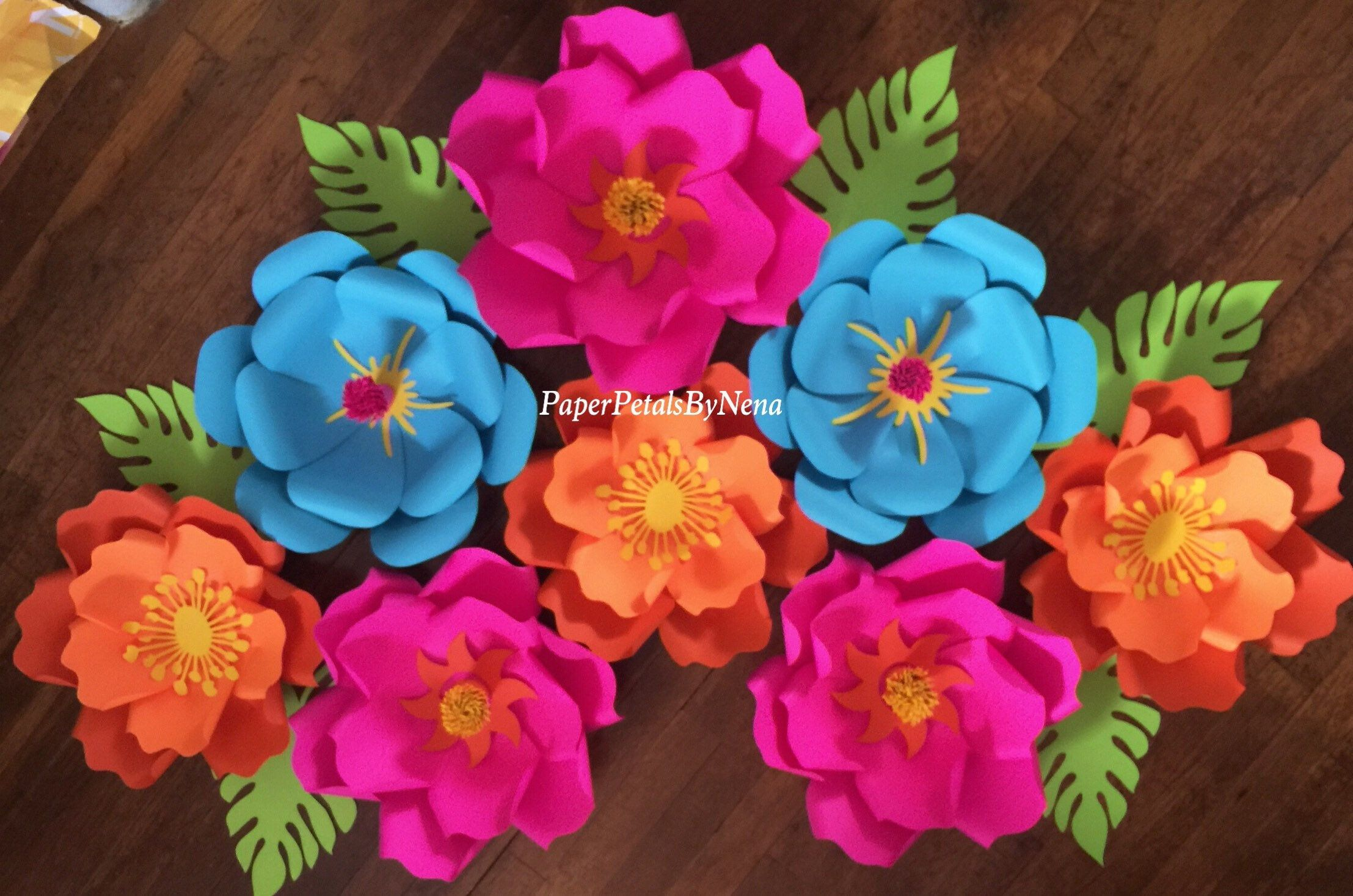 Moana Paper Flowers Hawaii Theme Paper Flowers Paper Flower