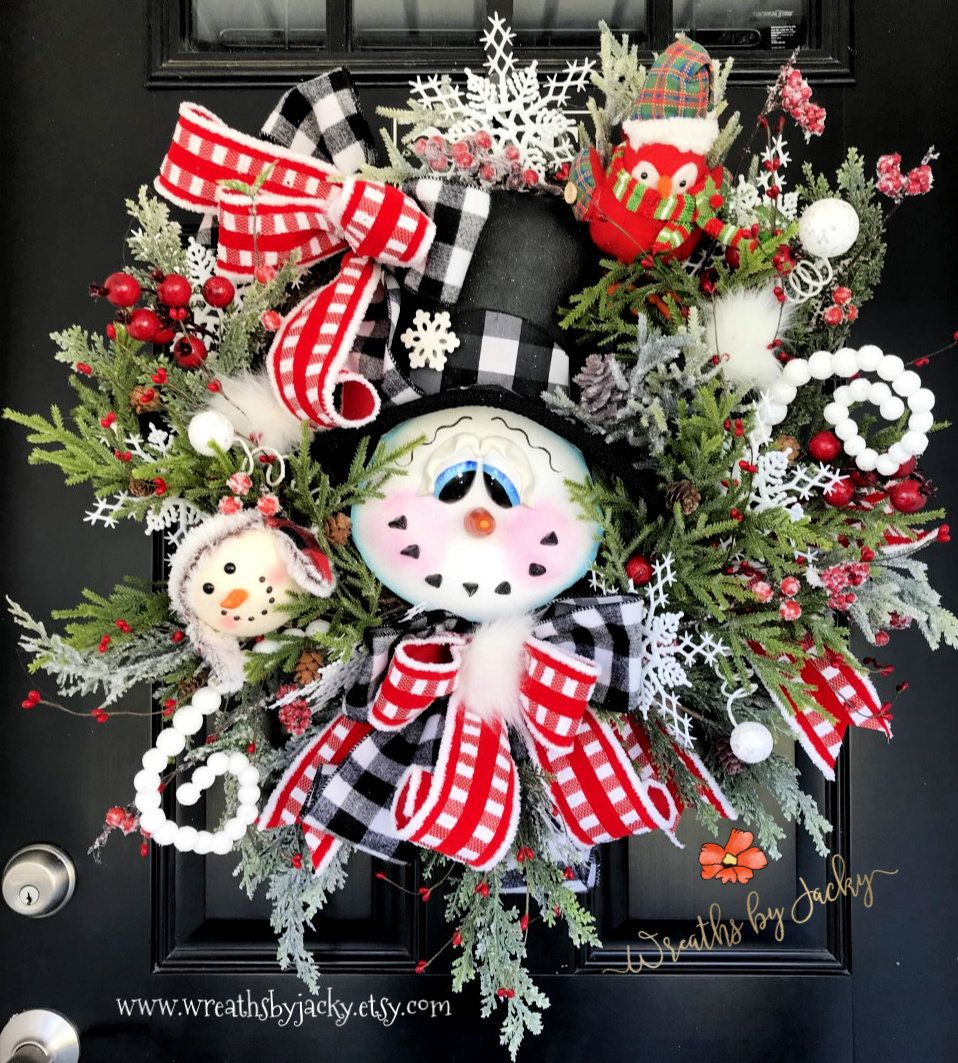 Winter Snowman Wreath Grapevine Snowman Wreath Grapevine Winter Wreaths Snowman Decor Snowman Fron With Images Christmas Wreaths Winter Door Decorations Snowman Wreath