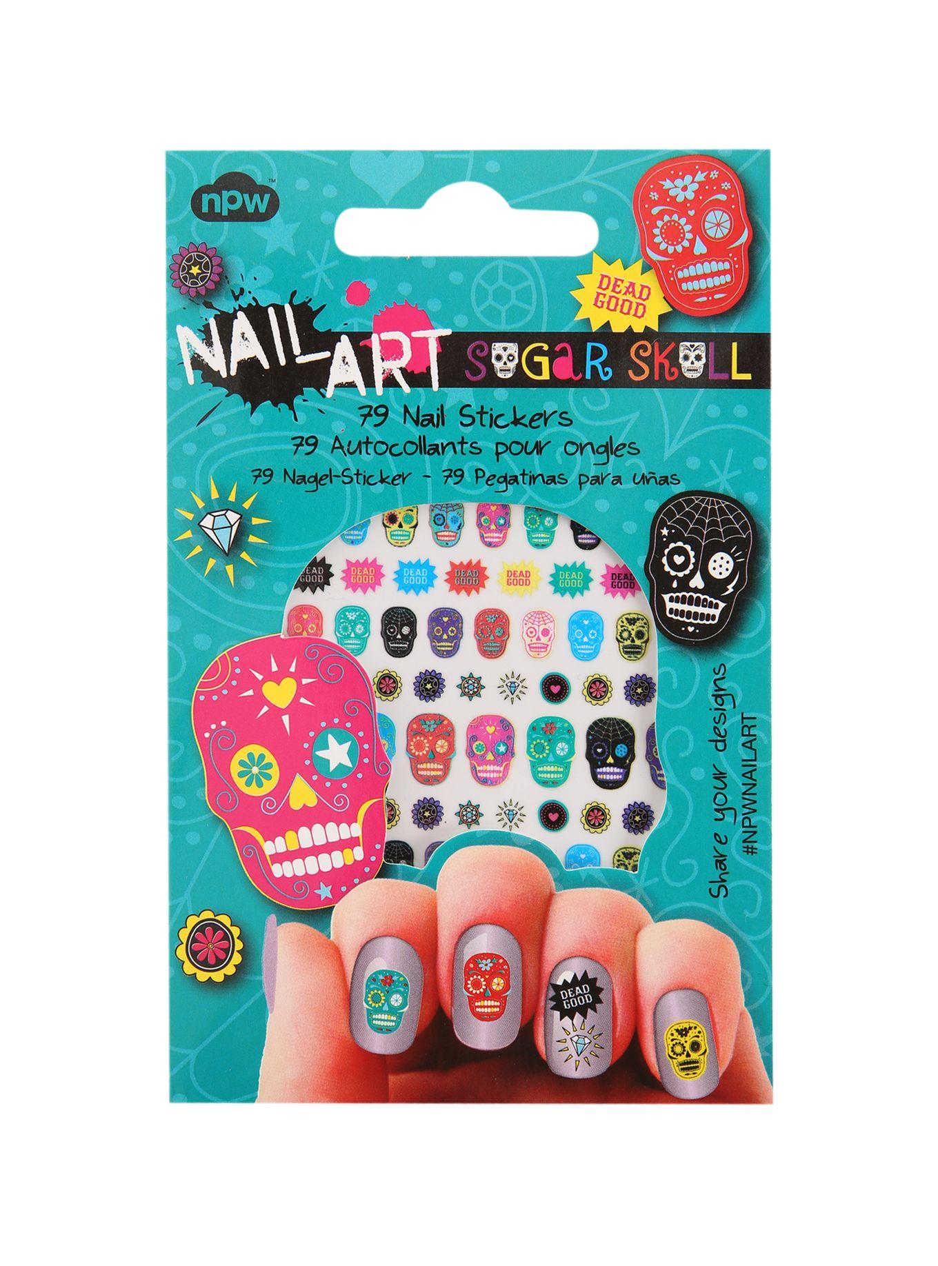 Nail Art Sugar Skull Nail Stickers | Hot Topic | Nails | Pinterest ...