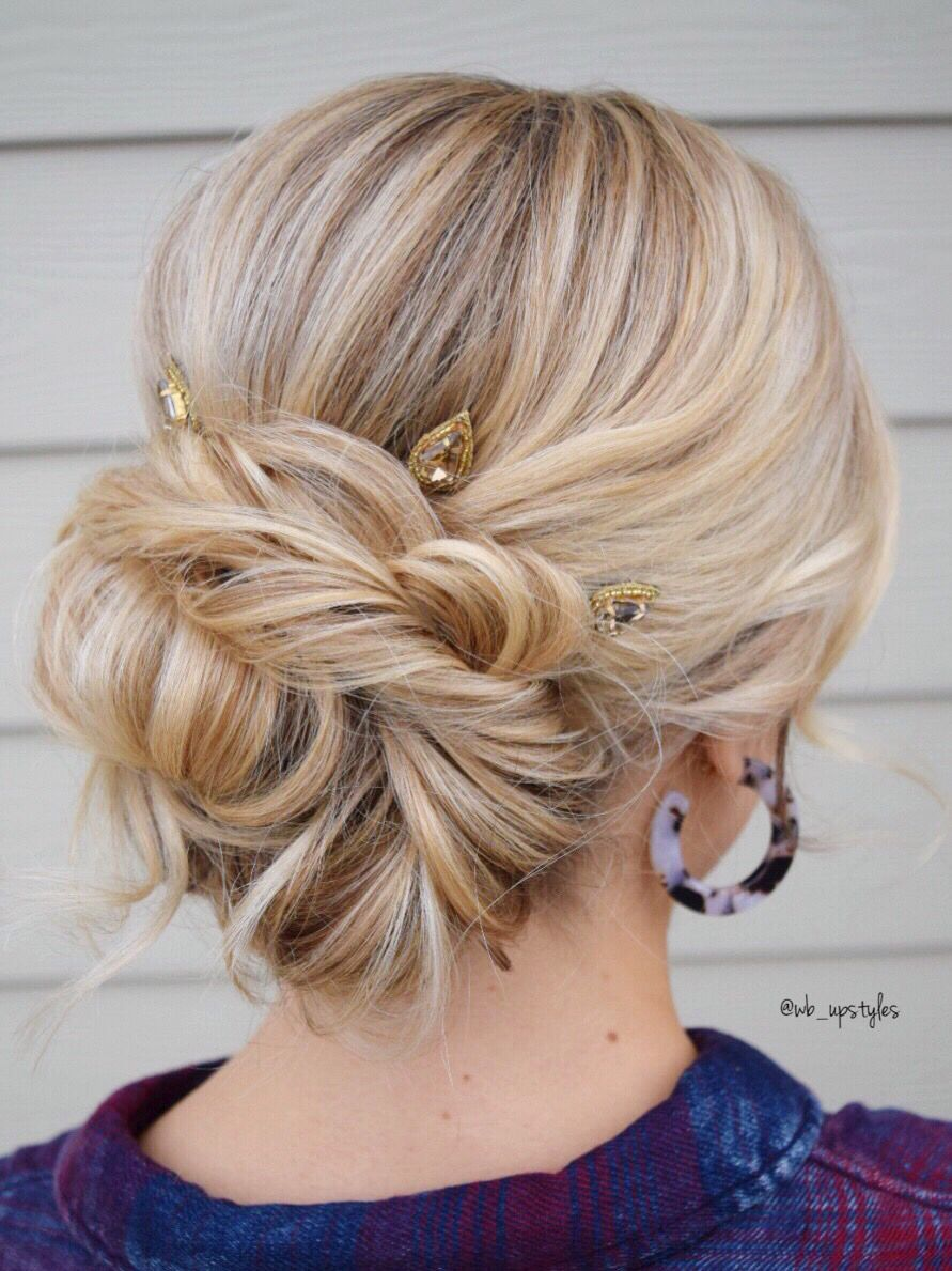 New Years Wedding Hairstyle  Simple bridal hairstyle, Wedding